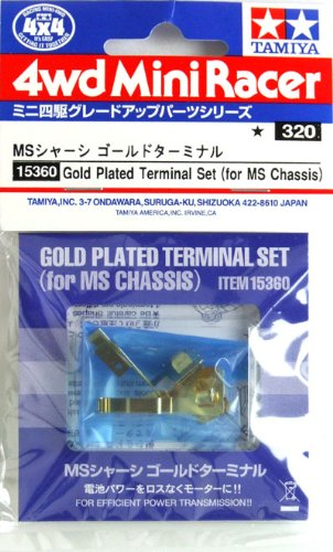 Gp.360 Ms Chassis Parts Gold Terminal Four Wheel Drive Mini (Chassis 360)