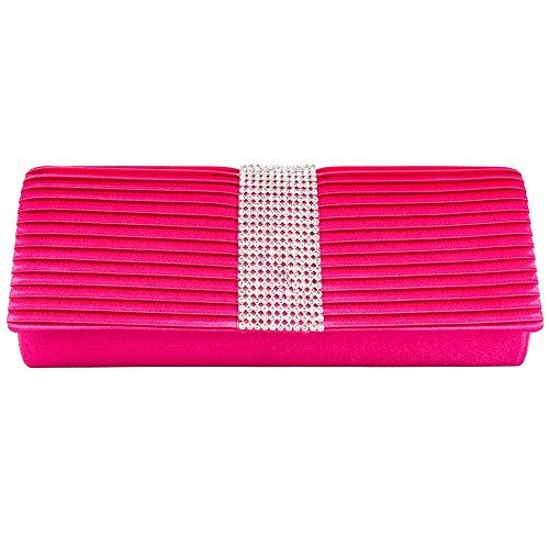 Women's Girl's Case Purses Bag Fashion clutch Magenta wallet lady Mildred Palki VanGoddy Diamond Dinner Evening 8xdw70q8H