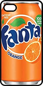 Fanta Orange Soda Can Black Plastic Case for Apple iPhone 4 or iPhone 4s