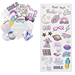LaurDIY Unicorn Collection Puffy and Die Cut Cute Stickers for Decorating, 49pc
