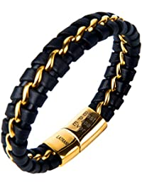 Fathers Day Gift Engraved Best Papa Ever Braided Leather...