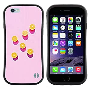 "Pulsar iFace Series Tpu silicona Carcasa Funda Case para Apple (4.7 inches!!!) iPhone 6 Plus / 6S Plus ( 5.5 ) , Arte Naranja Rosa Pintura Patrón Profundo"""