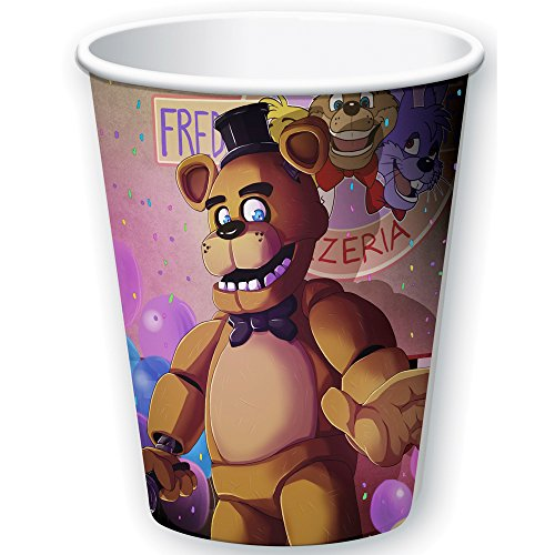 [Five Nights at Freddy's 9oz Paper Cups (8)] (Foxy Five Nights At Freddys Costume)