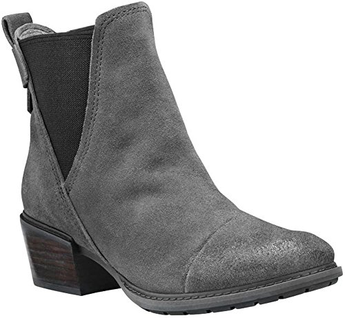 Timberland Women's Sutherlin Bay Double Gore Chelsea Dark Grey Suede 7 B US (Gore Side Leather)