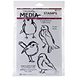 Ranger Dina Wakley Media Unmounted Rubber Stamps Scribbly Birds (6 Pack)
