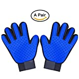 Antistatic Pet Hair Remover Glove, Massage & Bathing Comb, Pet Grooming Brush Glove Perfect for Dog $ Cat and All Furry Friends