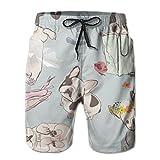HDMEI Mens Cute Dog Summer Swim Beach Shorts Quick Dry Surf Swimwear Shorts Trunks