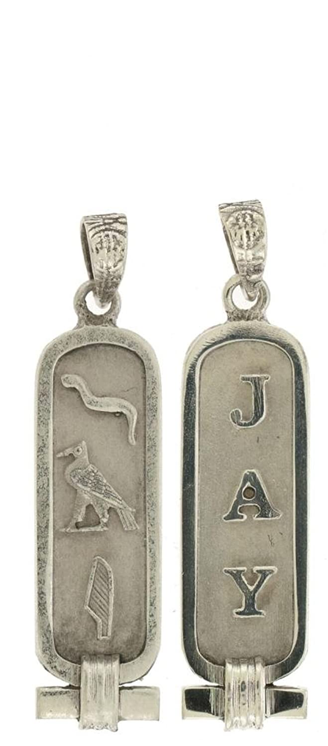 Amazon double sided personalized sterling silver cartouche amazon double sided personalized sterling silver cartouche made in egypt jewelry audiocablefo