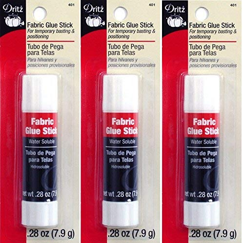 Dritz 401 Fabric Sewing and Craft Glue Stick, 0.28-Ounce (3 Pack) ()