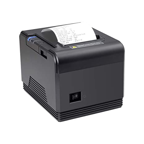 80mm Thermal Receipt Pos Printer Impresora térmica, MUNBYN USB Serial Ethernet LAN High Speed Printer, Compatible with ESC/POS Print Commands Support ...