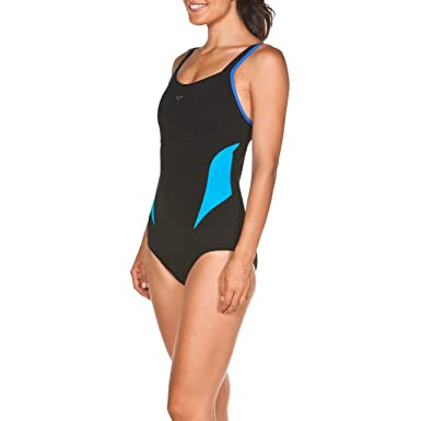 a1be3abd305 arena Women's Bodylift Makimurax TUMMY CONTROL Swimsuit, Black/Turquoise,  ...