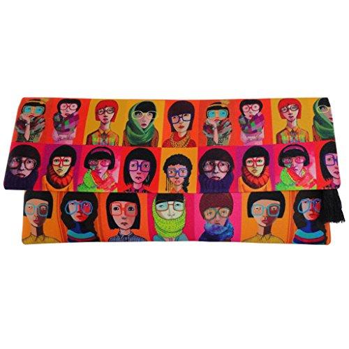 Fold Over Satchel (BoBo Women's Silk Satin Fold-Over Clutch Handmade Bag; Yoku)