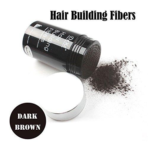 Easy to Use Lose Hair Building Fibers Dark Brown Color 22g (Hair Fibers)