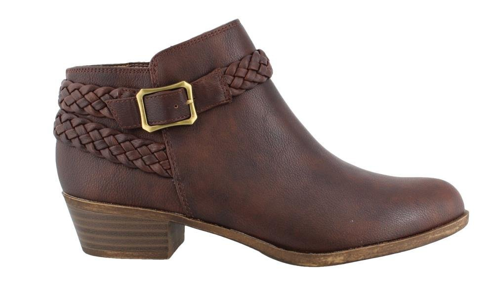 LifeStride Women's Adriana Ankle Bootie B075GXPS7M 7 B(M) US|Brown Smooth