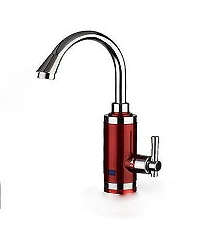 Calentador de agua eléctrico 360 ° rotación 220V cocina instantánea bajo influjo grifo de agua caliente