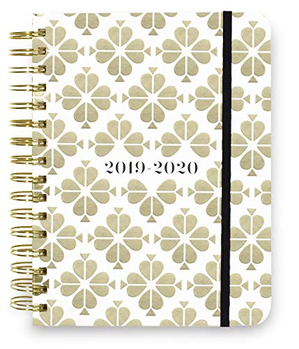 Kate Spade New York 17 Month Large Hardcover 2019-2020 Daily Planner, Weekly and Monthly Planner with Stickers, Pocket Folder, Tab Dividers, 8