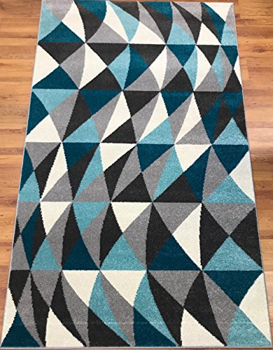 Cheap Antep Rugs RAINBOW Collection HARMONY PolypropyleneArea Rug (Blue 8′ X 10′)