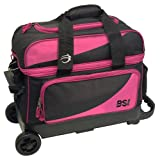 Cheap BSI Prestige Series Double Ball Roller Bag (Black/Pink)