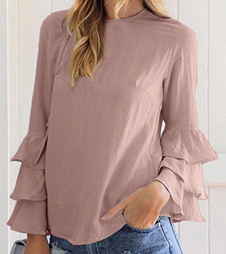 Zauberkirschen - Camisas - Básico - Manga Larga - 100 DEN - para mujer marrón claro
