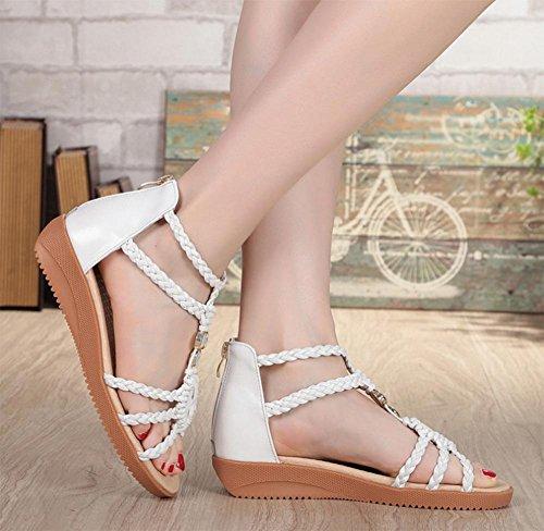 Xia Jiping mit Frau Sandalen mit weichen Sohlen Schuhe Student White