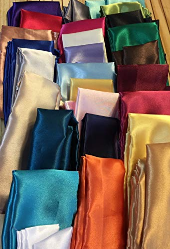 Cord Cover Satin Fabric Handmade 27 Colors and 100 Sizes to Choose From