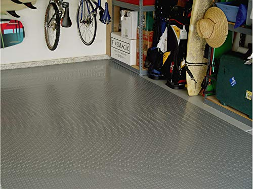 RoughTex Diamond Deck 85724 Pewter Textured Roll Out Garage Floor Mat, Various Sizes Available by Diamond Deck (Image #3)