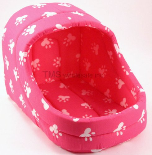 NEW PINK CAT DOG PAW PRINT PET BED FOR CATS OR DOGS, My Pet Supplies