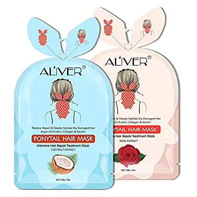Hair Tail Mask 2 Packs, Deep Hydrating Hair Mask, Repair Split, Dry Damaged,Lifeless Hair or Chemically Treated, Hair Treatment Mask