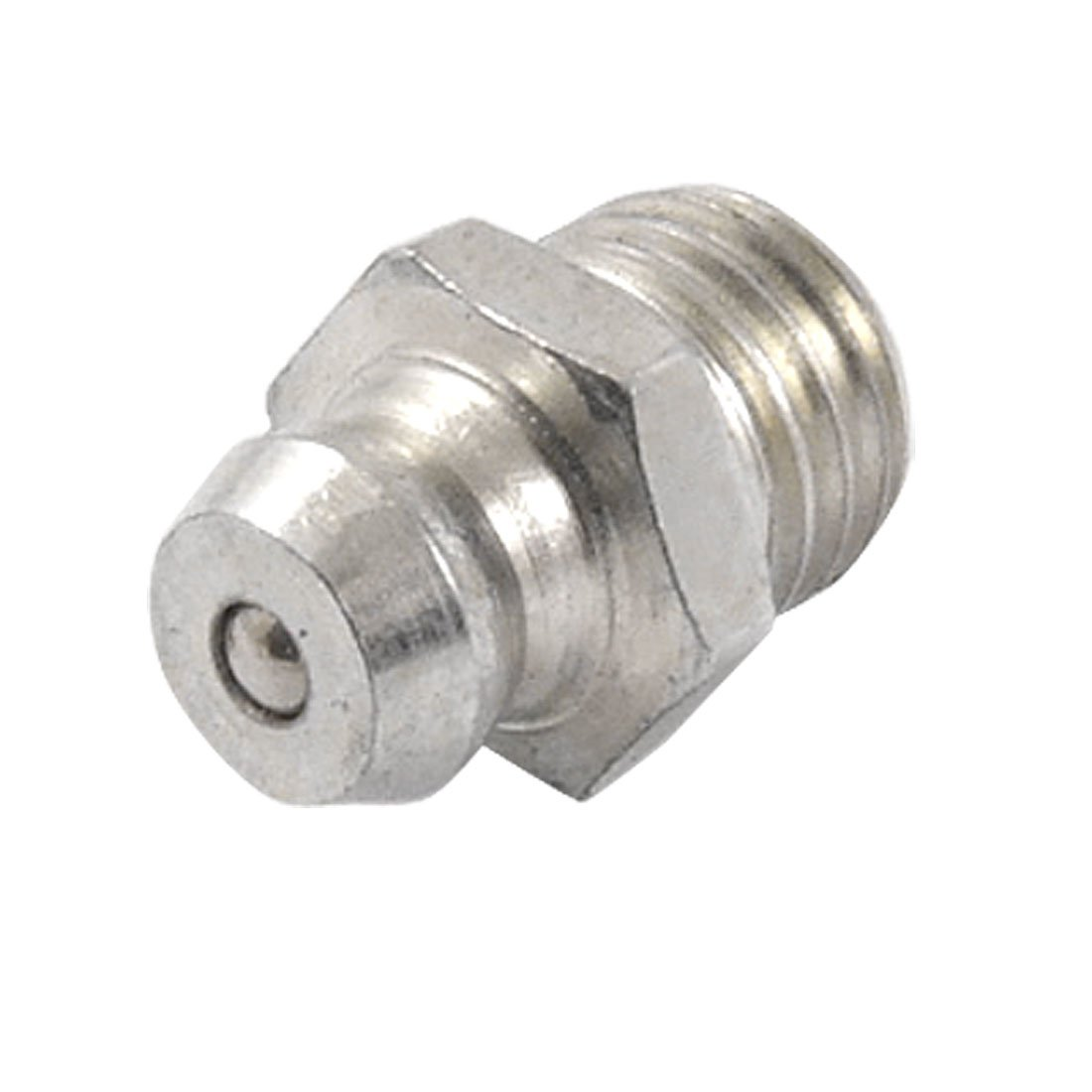 sourcingmap Metal M8 Male Thread Straight Grease Nipple Filling Nozzle a11121000ux0037