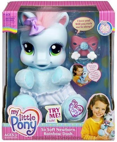 Amazon.com: My Little Pony So Soft Newborn Pony - Rainbow Dash: Toys & Games
