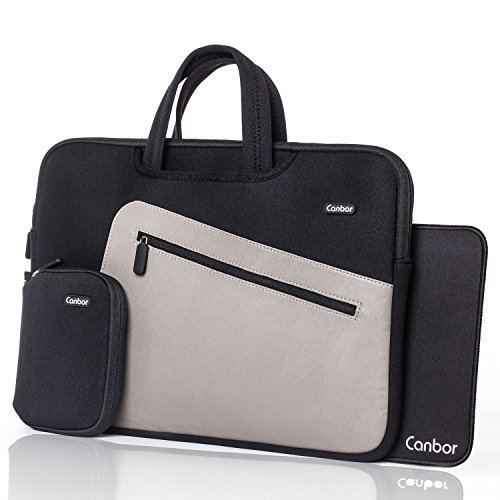 Canbor 12.9 - 13.3 inch Waterproof Laptop Case Bag for Apple MacBook Air / MacBook Pro / iPad Pro / Surface Book, Notebook Computer Sleeve Cover Briefcase Carry Bag