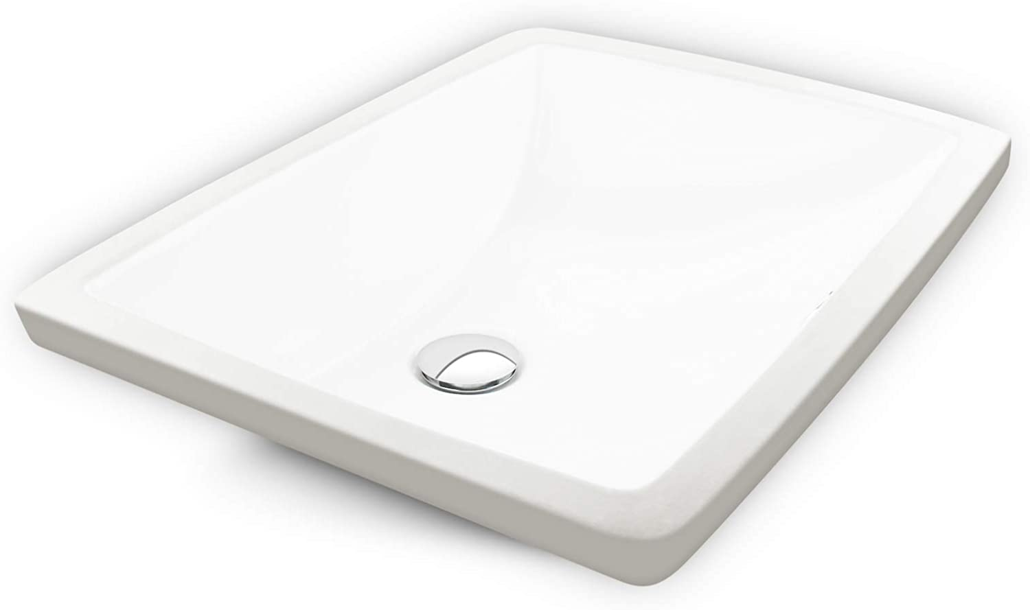 20 x15 Undermount Bathroom Sink with Overflow, White Porcelain Lavatory Rectangular Vanity Ceramic Sink