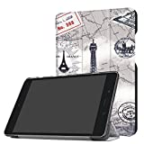GBSELL Folding Stand Leather Case Cover For ASUS ZenPad Z8s ZT582KL 7.9 inch Tablet 2017 (G)