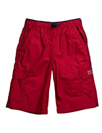 Unionbay Boys' 100% Cotton Cargo Short With Pull On, Elastic Waist