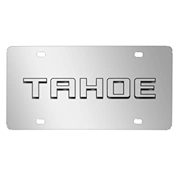 Chevroelt Tahoe 3d Nameplate Chrome Stainless Steel License Plate    Made in USA