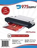 975 Supply - 5 Mil Clear Letter Size Thermal Laminating Pouches - 9'' X 11.5'' - 200 Pouches