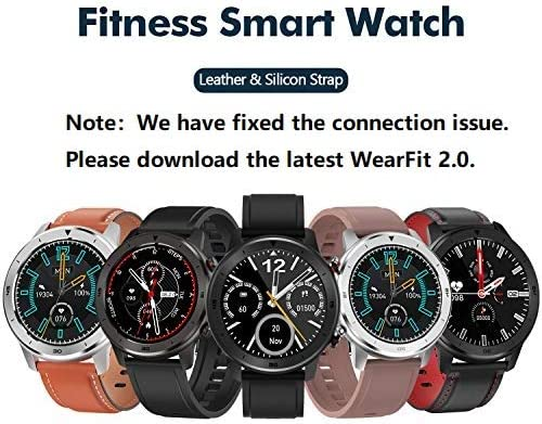 Smart Watch, Popglory Smartwatch HR, Touchscreen 1.3″ Fitness Watch with Blood Pressure Monitor, IP68 Waterproof Fitness Watch, 15 Days Battery Life Compatible with Android Phones and iPhone 51UZca7TBeL