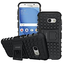 Galaxy A3 (2017) Case, OEAGO [Shockproof] [Impact Protection] Tough Rugged Dual Layer Protective Case with Kickstand for Samsung Galaxy A3 (2017) - Black