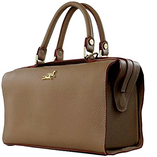 Leather handbag Chiara