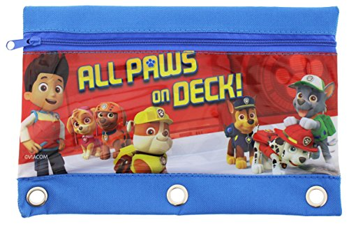 Set of 2 Paw Patrol Pencil Pouches Bags Marshall Rubble Chase Rocky Zuma Skye Everest Photo #3