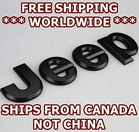Matte Black - JEEP - Badge Decal Emblem Car Sticker *** USA SELLER ***