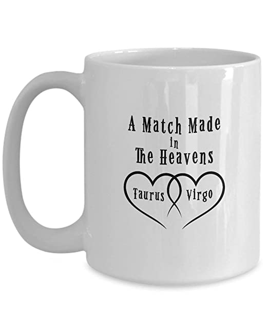 Astrology Taurus and Virgo Zodiac Love Signs Coffee Mug Gift ...