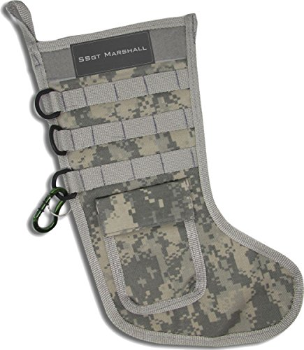 Personalized Tactical Christmas Stocking Hanging Christmas Stockings Ready to be Stuffed in Digital Camo