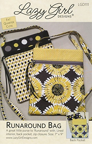 Bag Purse Sewing Pattern - Lazy Girl Designs Runaround Bag Pattern