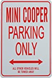 mini cooper parking sign - MINI COOPER Parking Only - Novelty Miniature Parking Signs