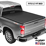 "Lund Genesis Tri-Fold, Soft Folding Truck Bed Tonneau Cover | 95065 | Fits 2009-18, 19/20 Classic Dodge Ram 1500 5' 7"" Bed"