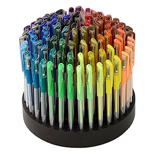 ECR4Kids-GelWriter-Multicolor-Gel-Pens-in-Rotating-Stand-100-Count