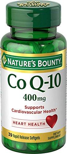 Nature's Bounty Co Q-10 400 mg Cardio Q10 Maximum Strength, 39 Rapid Release Liquid Softgels