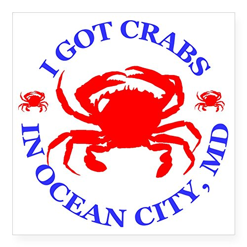 "CafePress - OC_CRABS Square Sticker 3"" X 3 - Square, used for sale  Delivered anywhere in Canada"