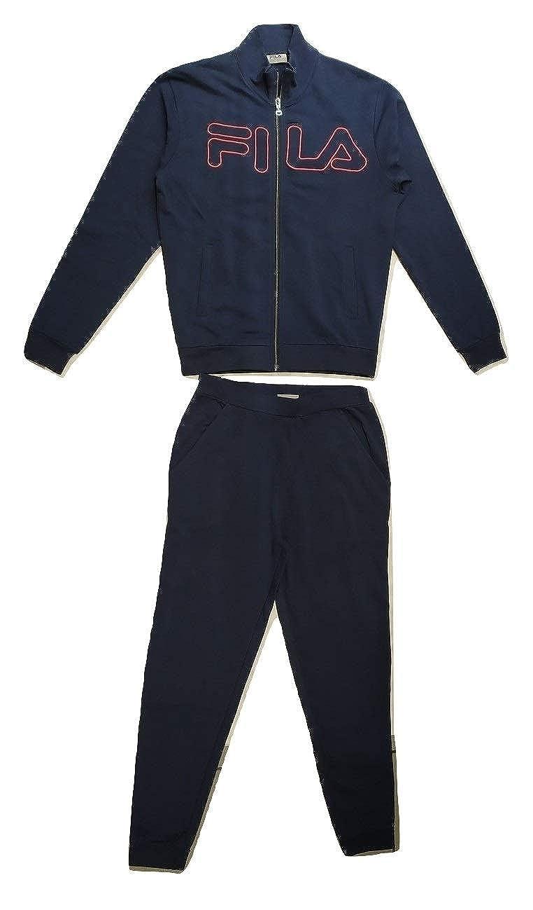 Fila - Pijama para Hombre, Color Azul, con Cremallera: Amazon.es ...